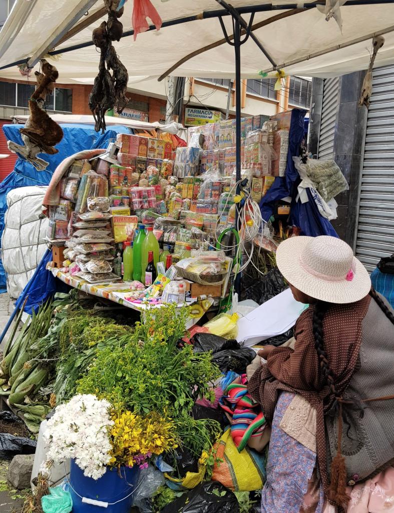 Straßenverkäufer La Paz