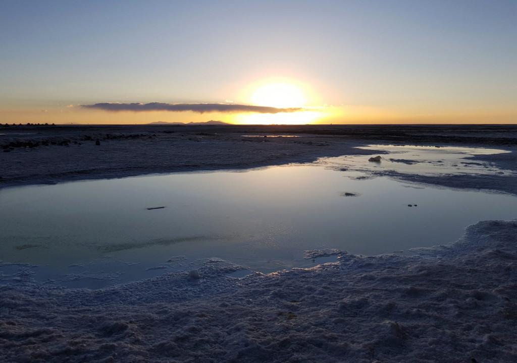 Sonnenuntergang Salar de Uyuni