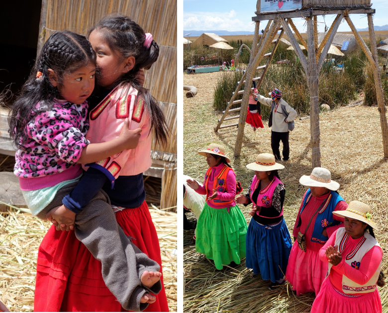 Puno Schilfinseln Titicacasee